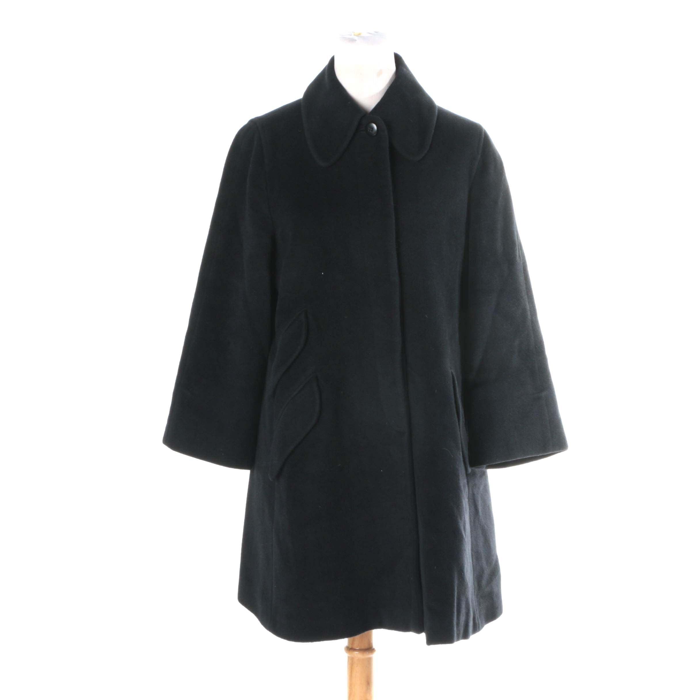 Women's Vintage Armani Black Swing Coat