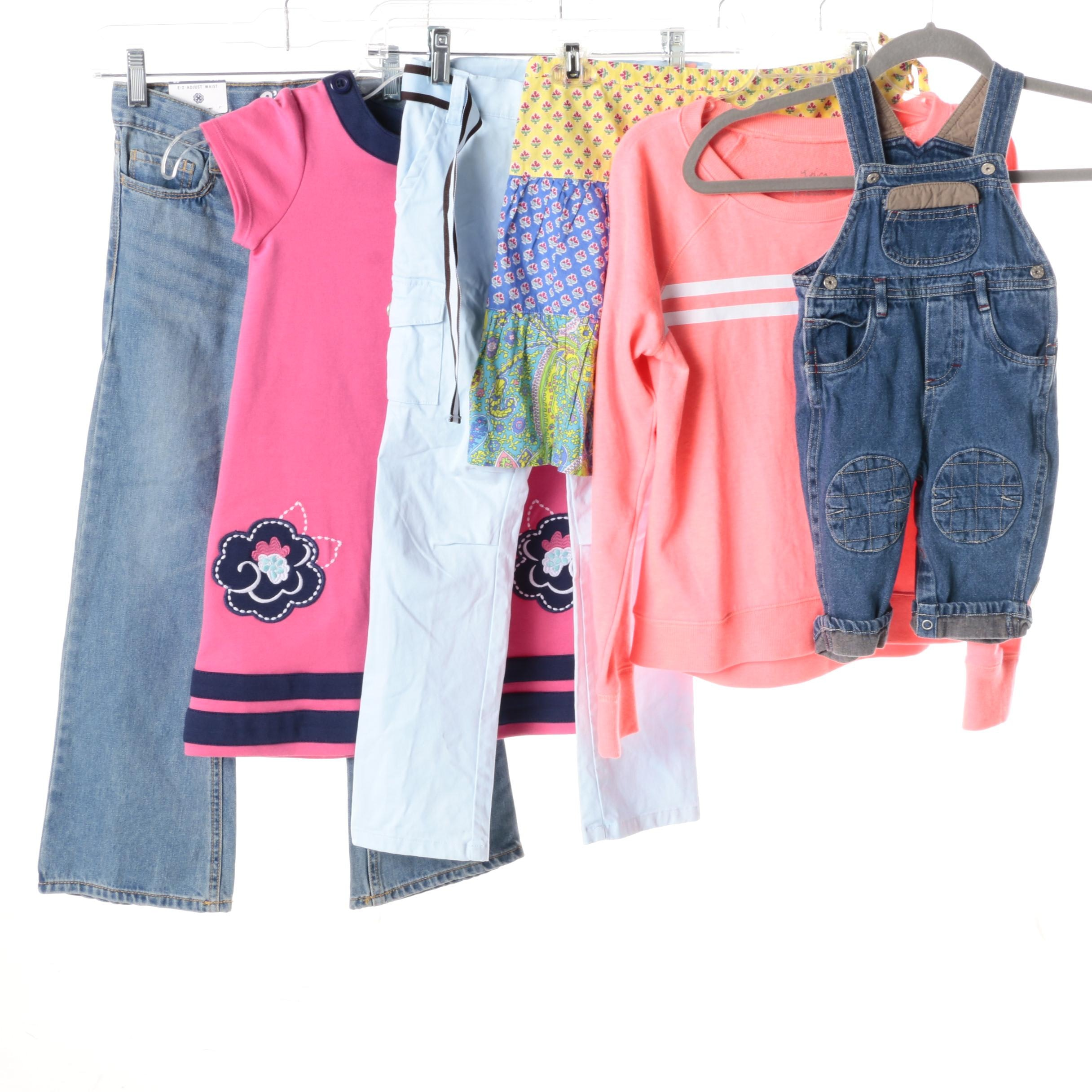 Girl's Jeans, Dresses and Shirt Including Justice, Ralph Lauren and Gymboree