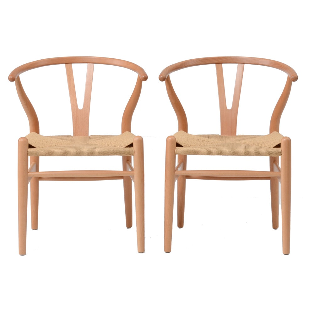 Pair Of Hans Wegner Style Chairs ...