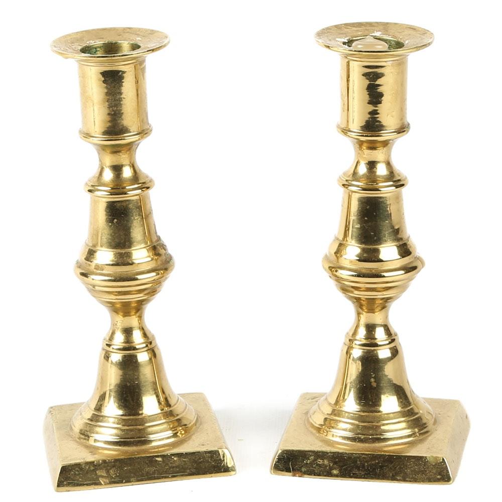 """Virginia Metalcrafters """"Newport"""" Brass Candlesticks"""