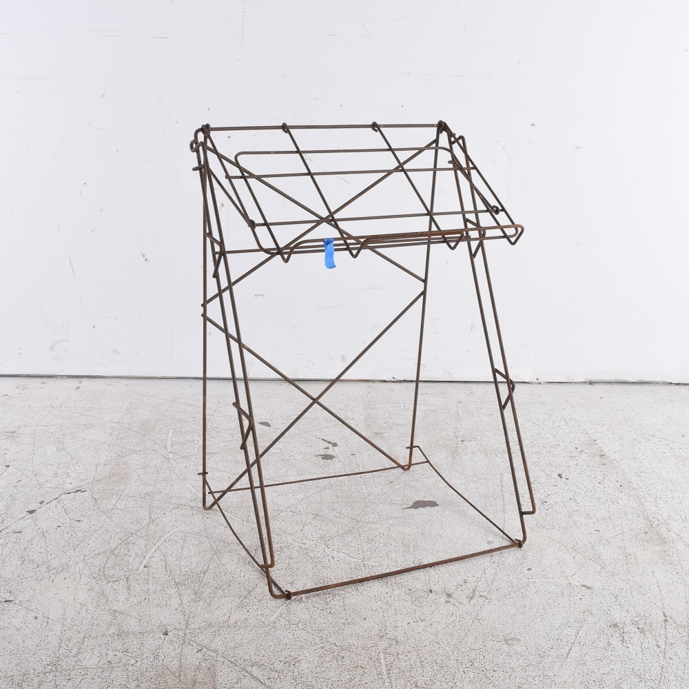 Vintage Metal Wire Sheet Music Stand