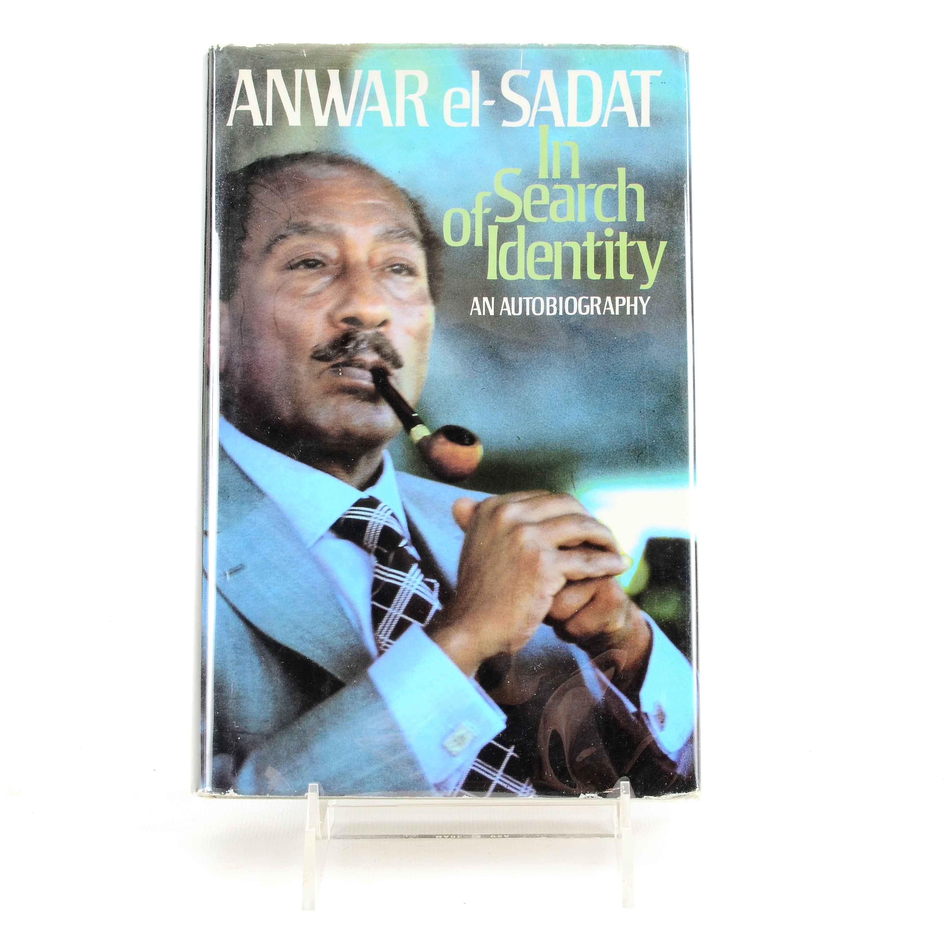 """Signed """"In Search of Identity: an Autobiography"""" by Anwar Sadat"""