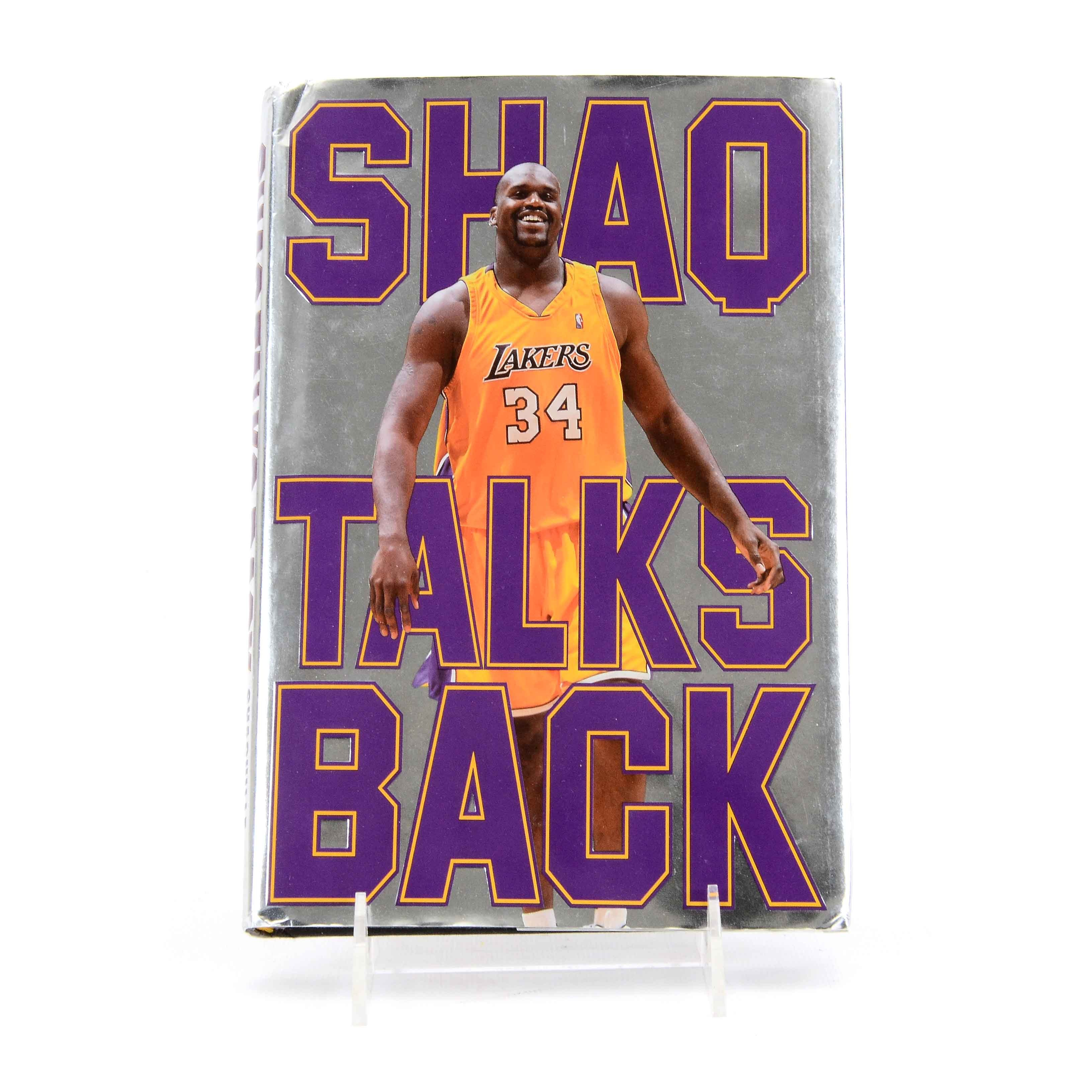 """Signed """"Shaq Talks Back"""" by Shaquille O'Neal"""