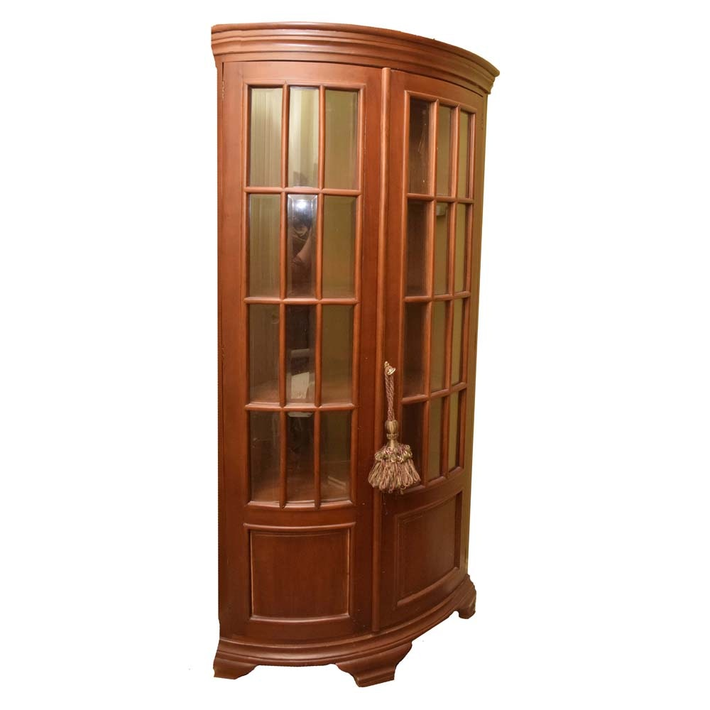 Bow-Front Corner Cabinet