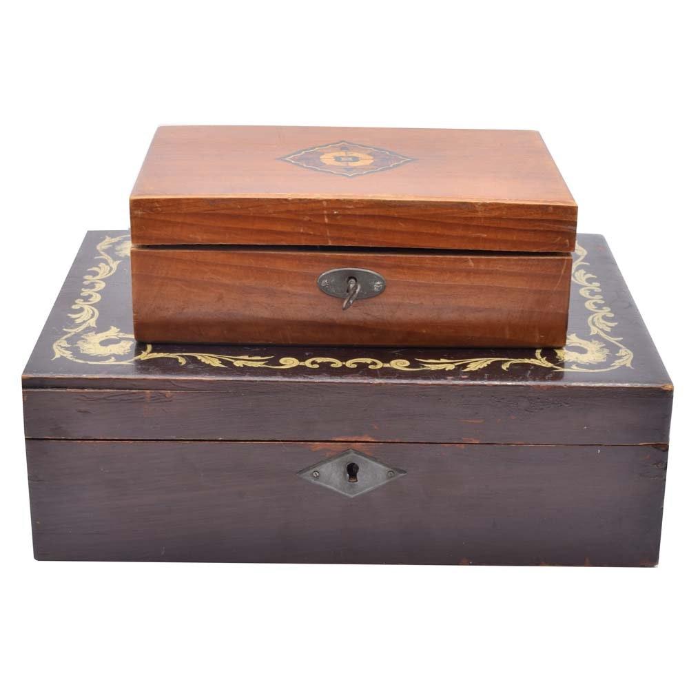 Wooden Decorative Boxes Beauteous Antique Decorative Boxes  Antique Decor For Sale In Jewelry Home Design Ideas