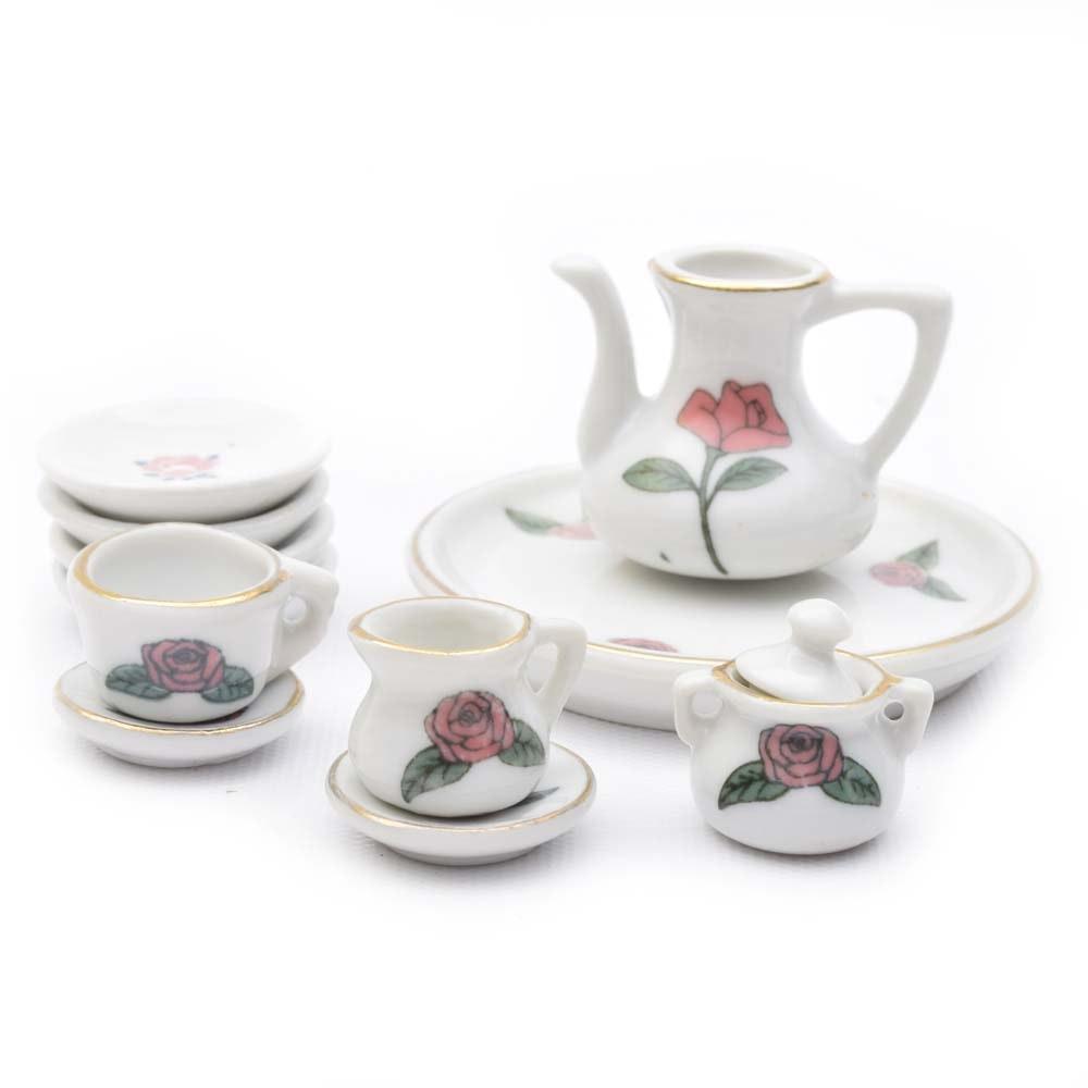 Miniature Ceramic Tea Set