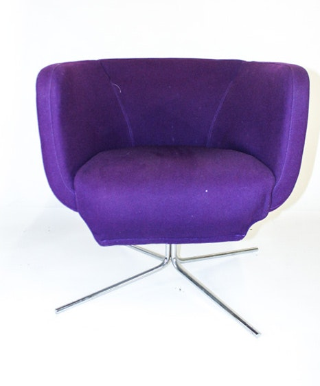 Modern Style Purple Upholstered Swivel Chair By Living Divani ...