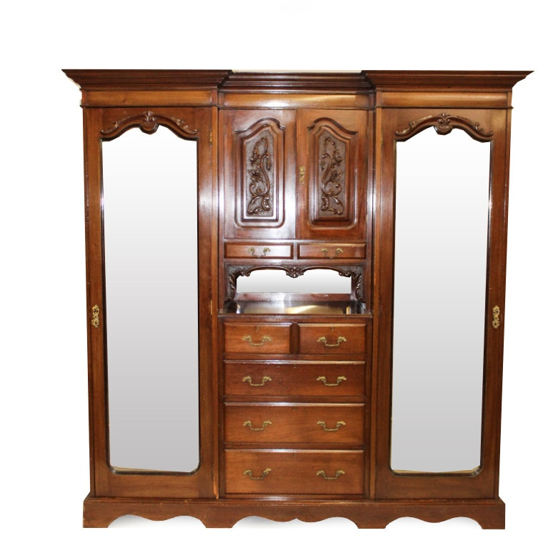 Victorian Double Armoire and Dresser