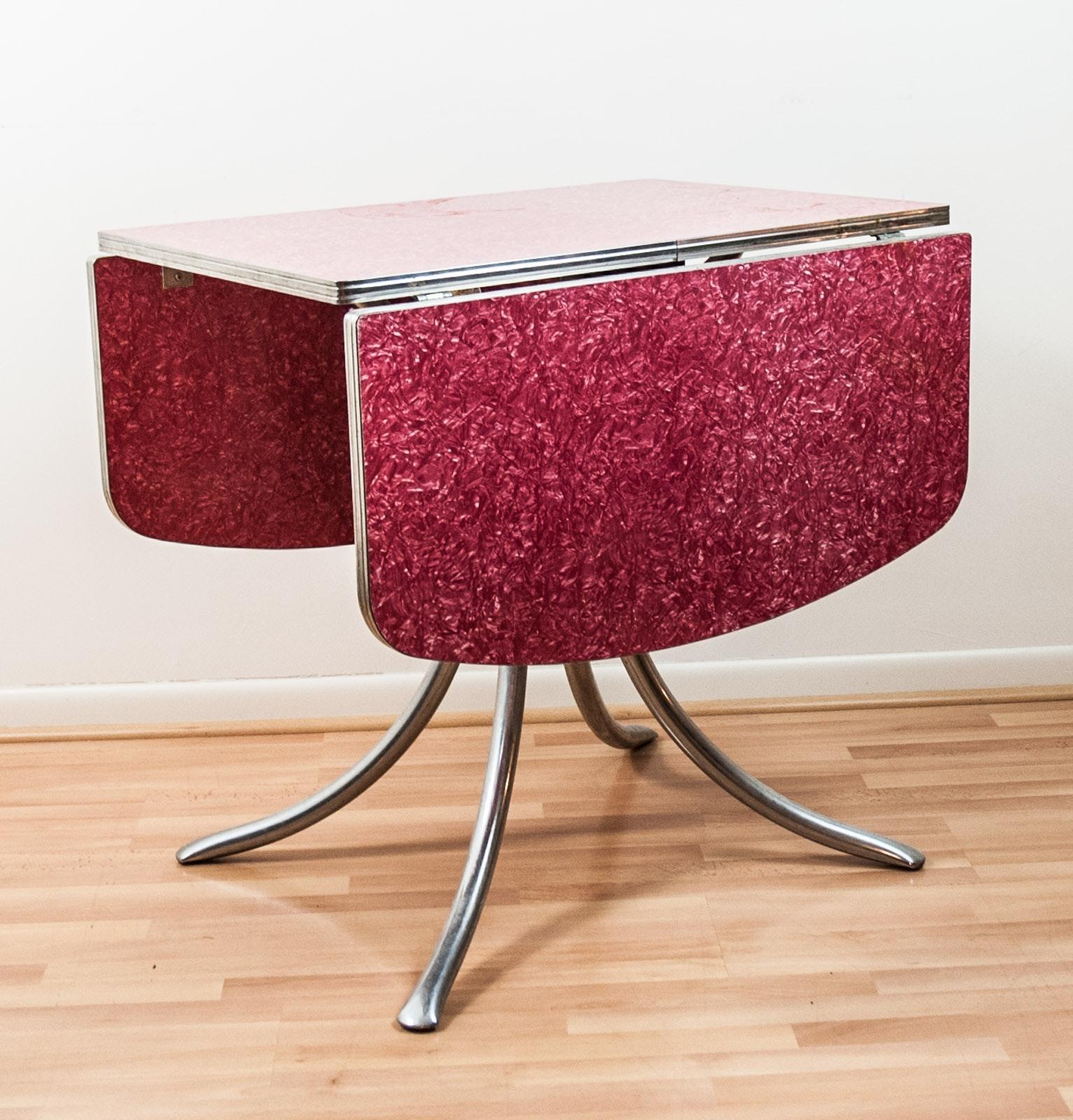 Vintage Mid Century Modern Drop-Leaf Table