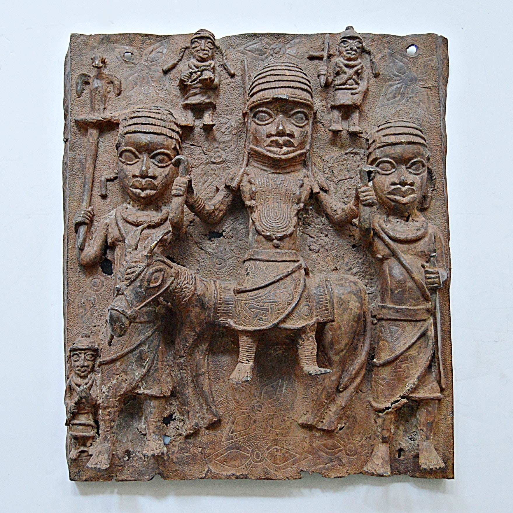 Late 19th-Early20th Century Sub-Saharan Lost Wax Bronze Plaque