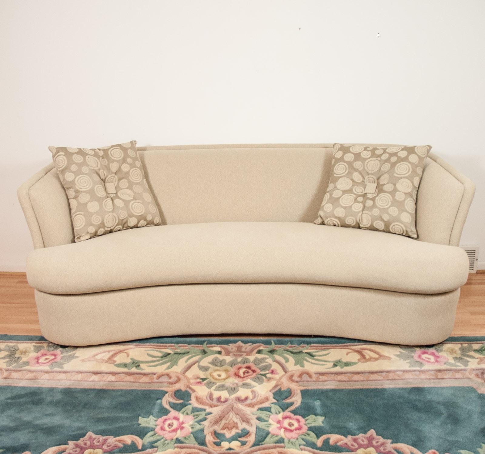 Modern Ivory Sofa