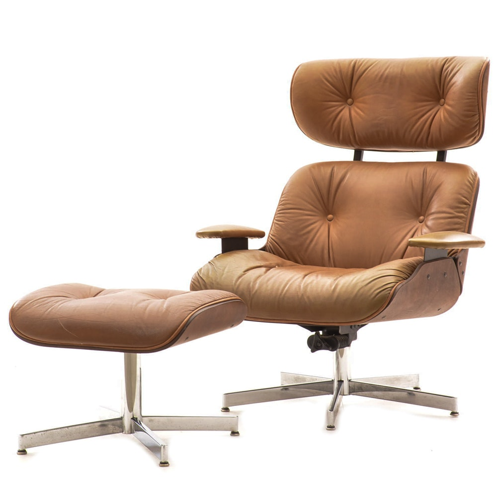 Beau Eames Style Lounge Chair And Ottoman ...