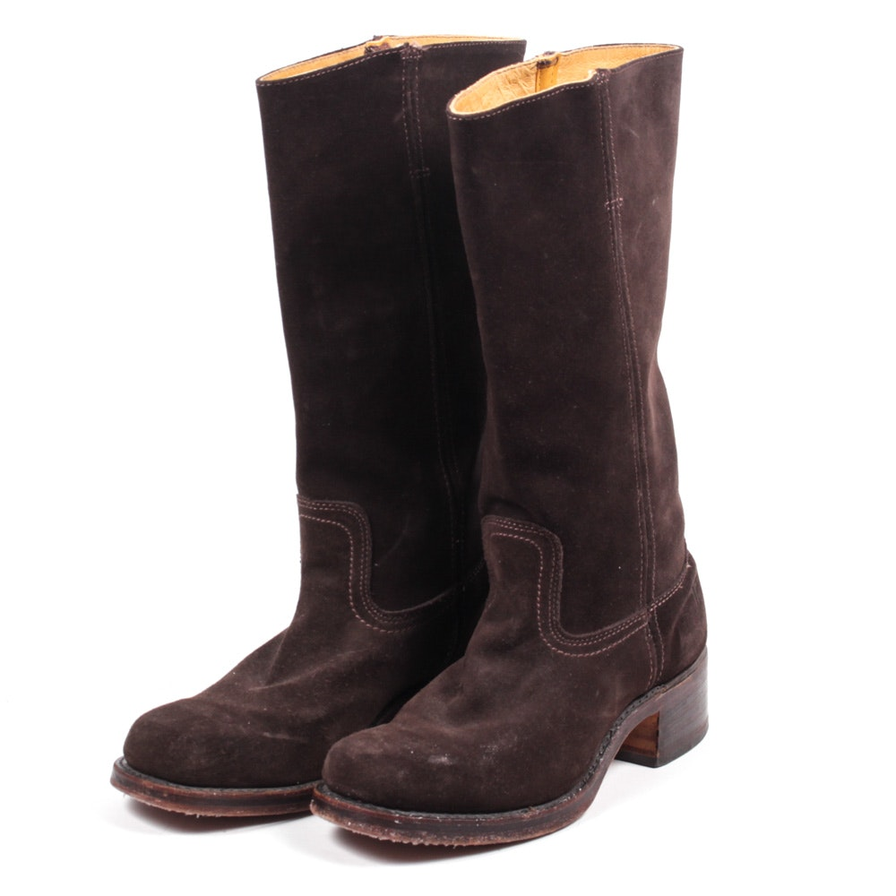 Frye Brown Suede Campus Boots