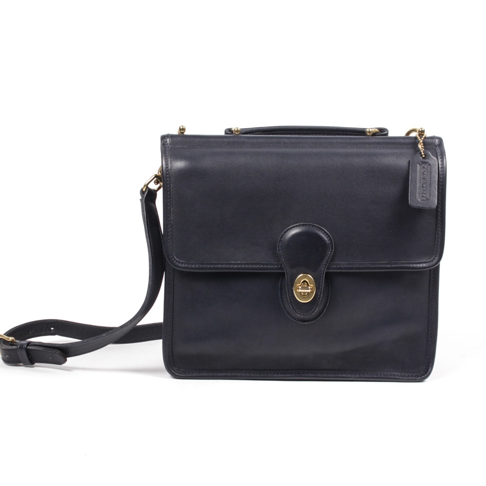 Coach Black Leather Willis Bag
