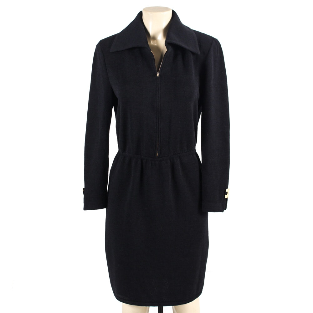 St. John Collection Black Knit Dress