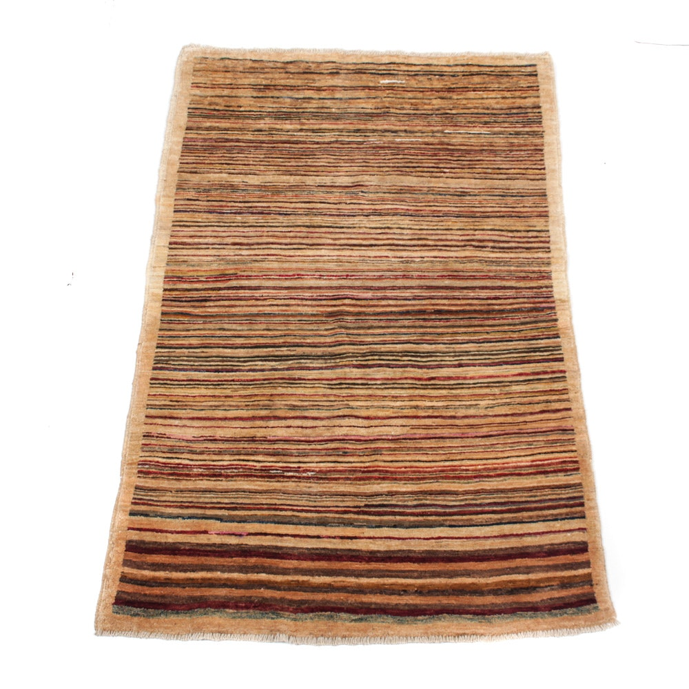 Hand-Knotted Pakistani Persian Gabbeh Rug