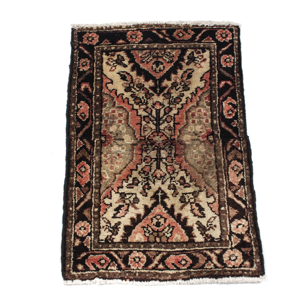 Hand-Knotted Semi-Antique Persian Zanjan Rug