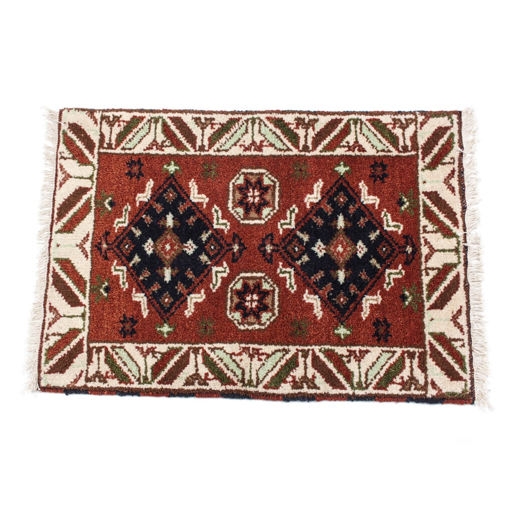 Indo-Persian Hand-Knotted Shiraz Rug