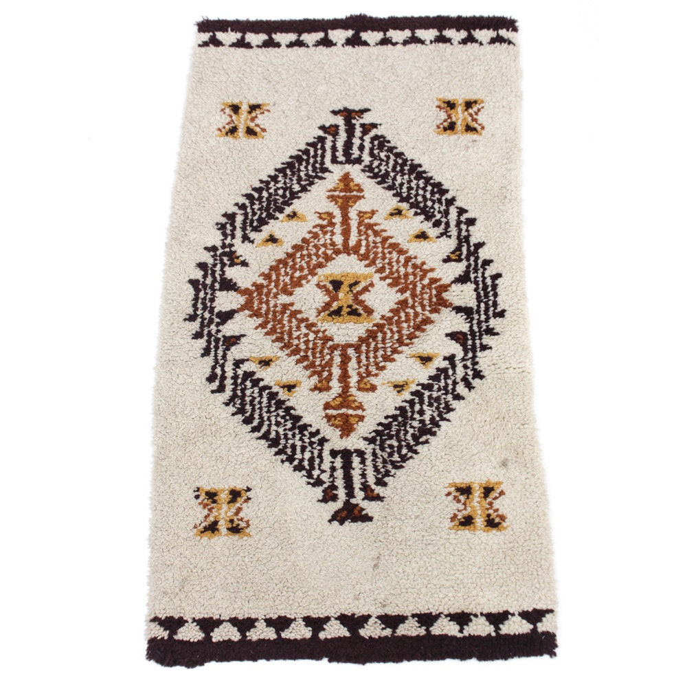 Semi-Antique Hand-Knotted Moroccan Rug