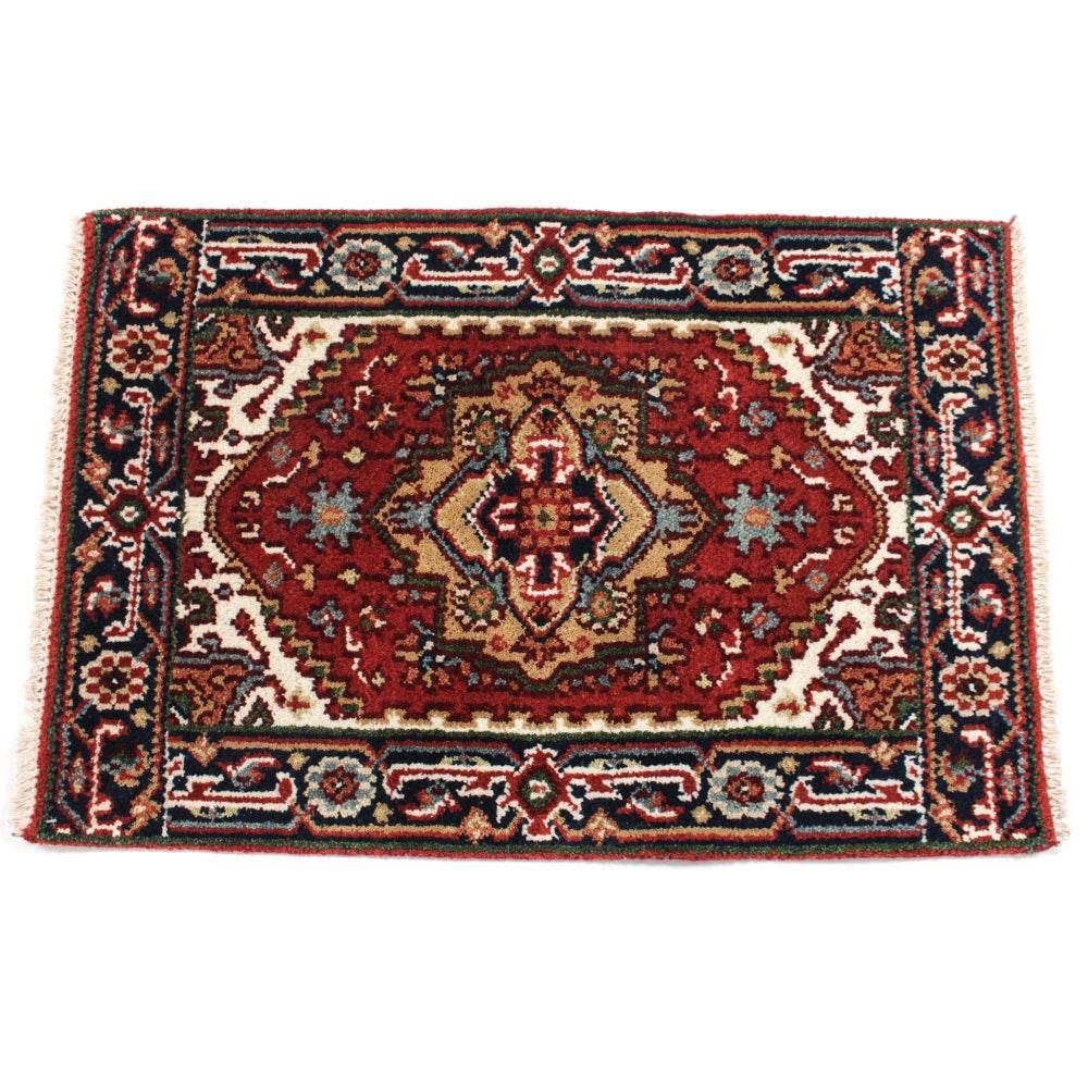 Hand- Knotted Indo-Persian Heriz Serapi Rug