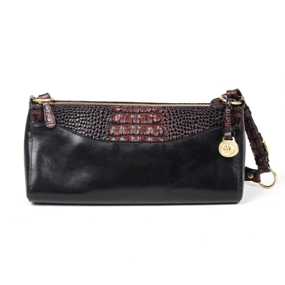 Brahmin Embossed Leather Handbag