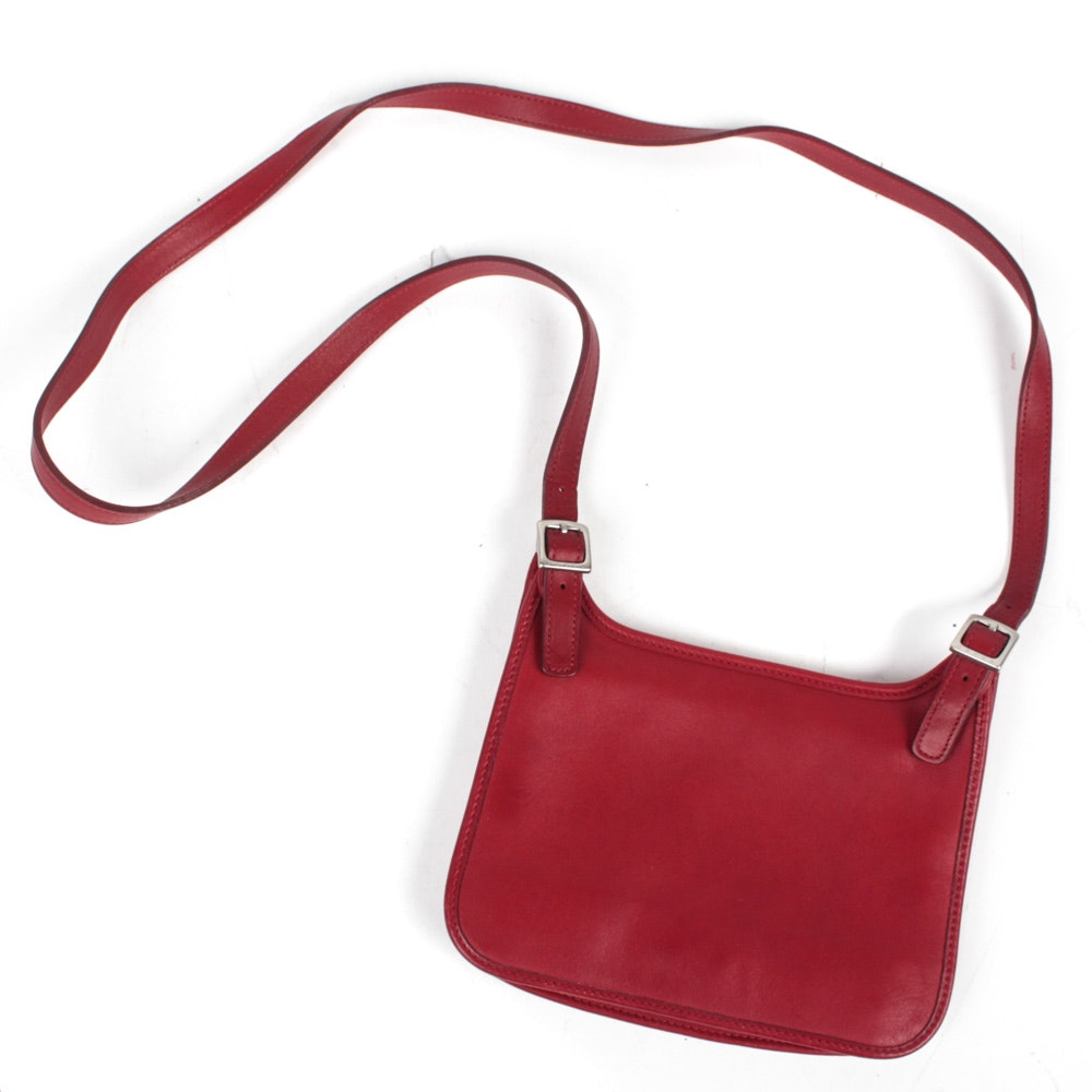 Coach Red Leather Crossbody Purse