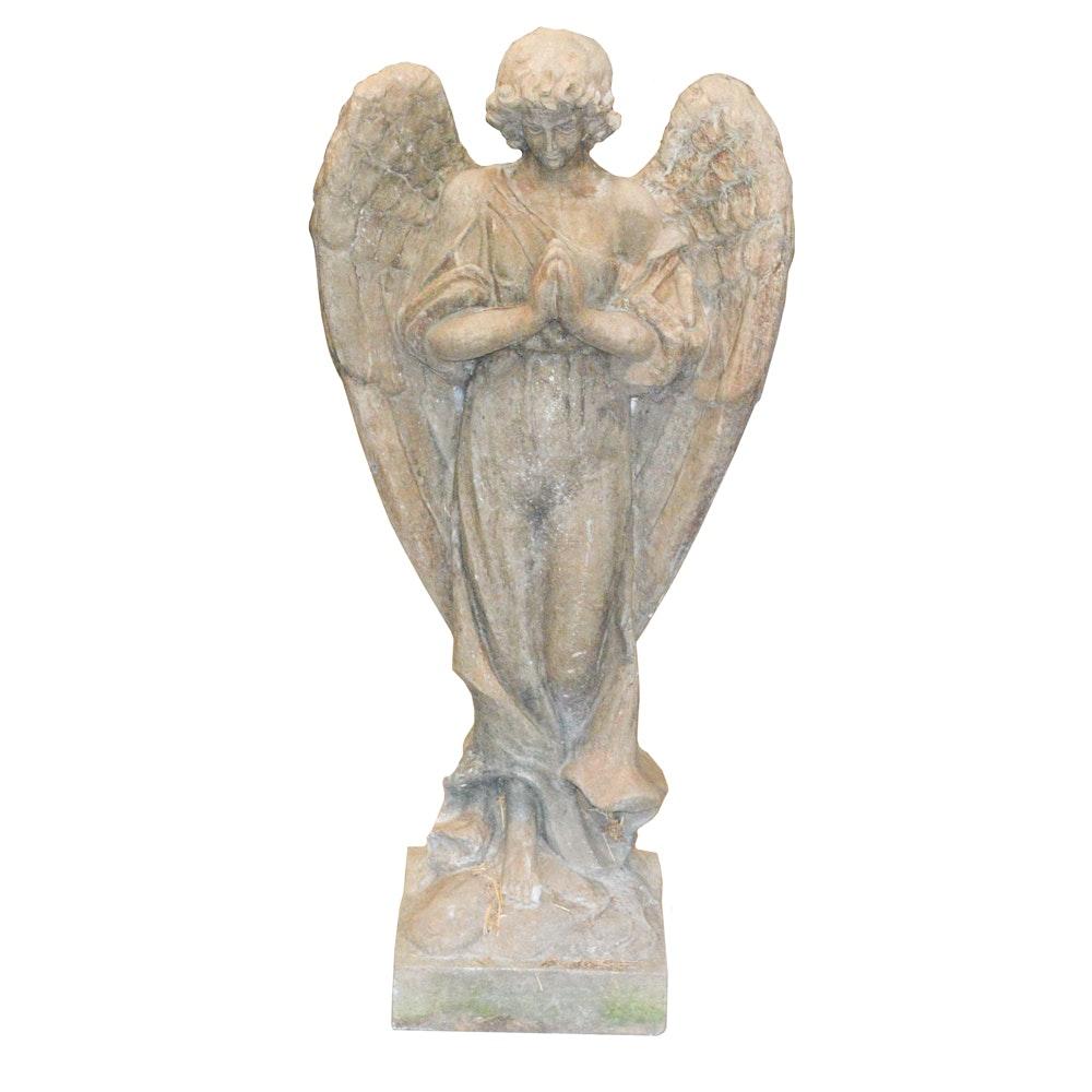 Massarelli's Stone Garden Statue of Praying Angel