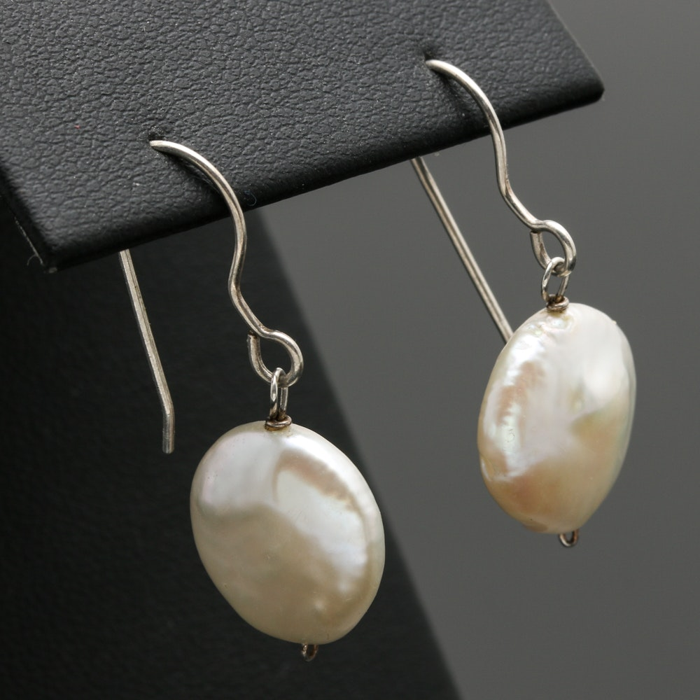Sterling Silver Cultured Pearl Earrings