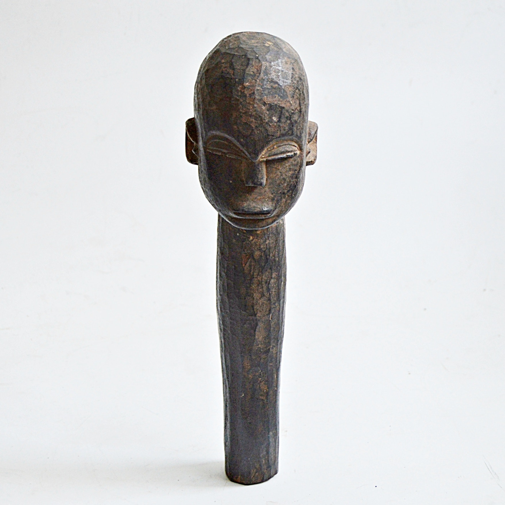 20th-Century Baule African Carved Wooden Fetish