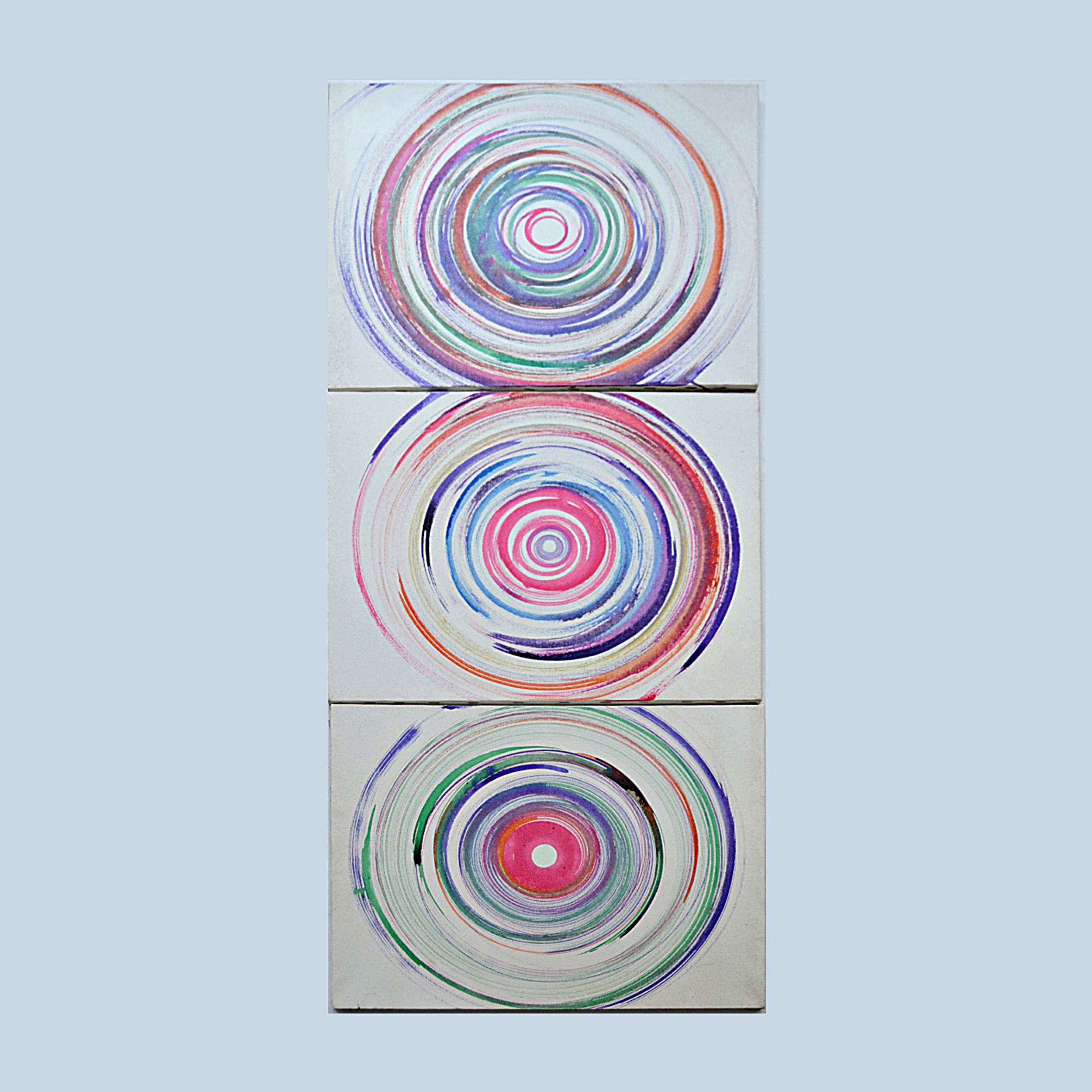 Group of 1970s Spin Art on Canvas