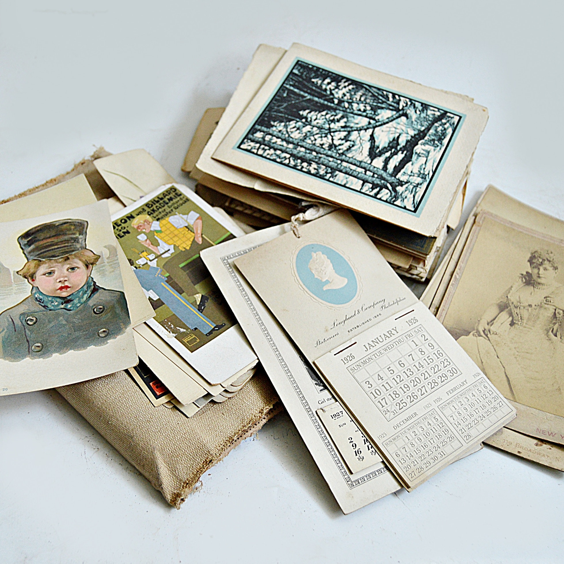 Vintage Ephemera with Etchings from Dixie Selden's Estate