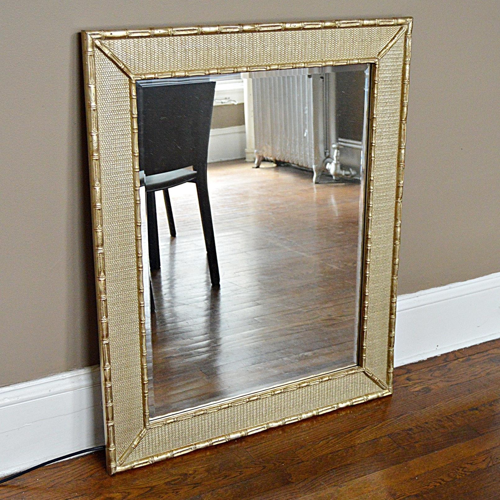 Contemporary Beveled Wall Mirror