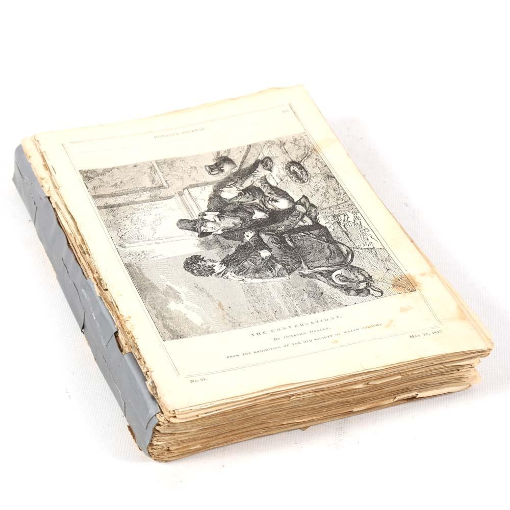 "Antique ""Howitt's Journal of Literature and Popular Progress"""