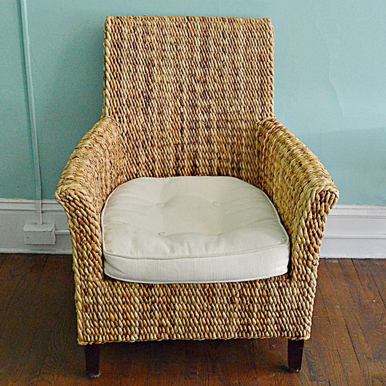 Contemporary Woven Sisal Armchair