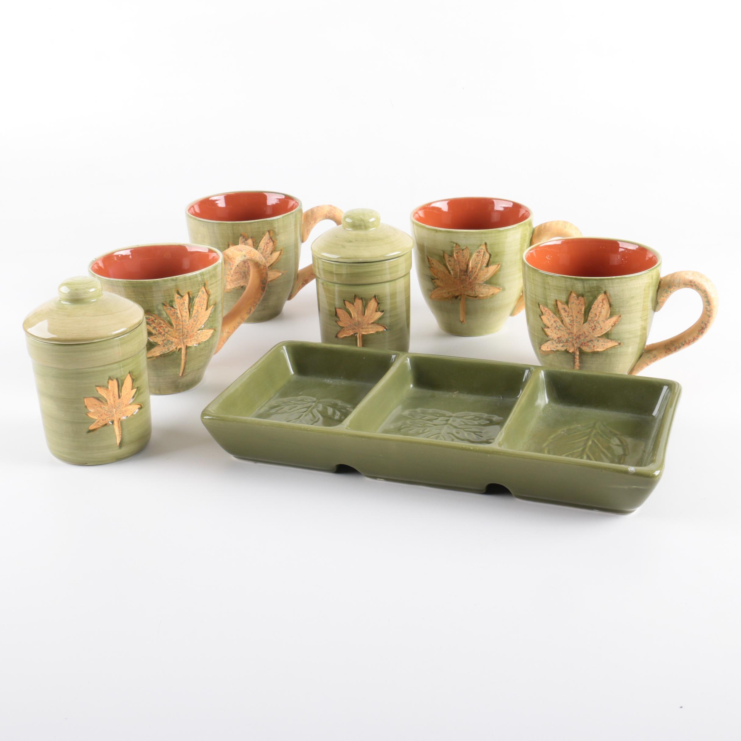Ceramic Earth Tone Coffee Service