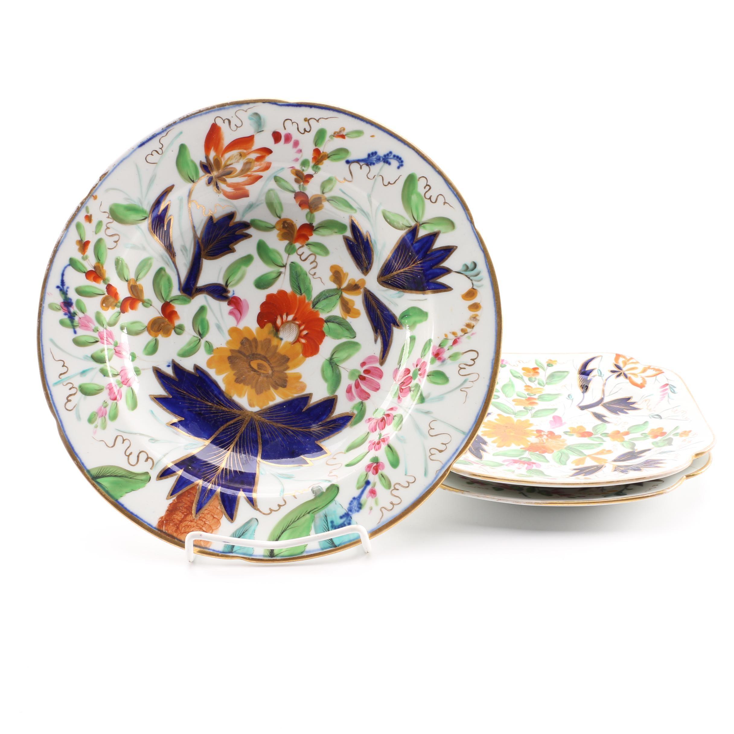 Floral Motif Decorative Ceramic Plates
