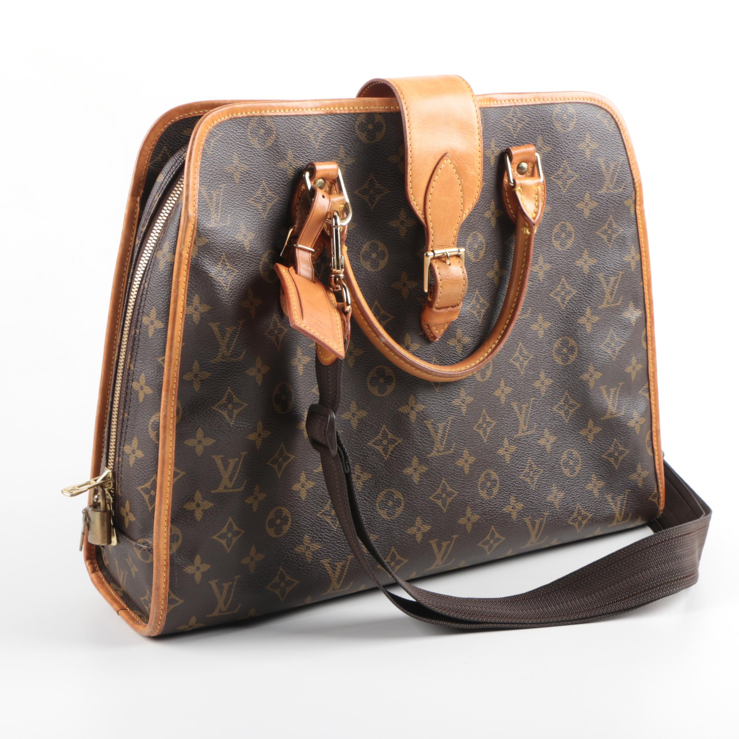 Louis Vuitton Leather and Canvas Briefcase