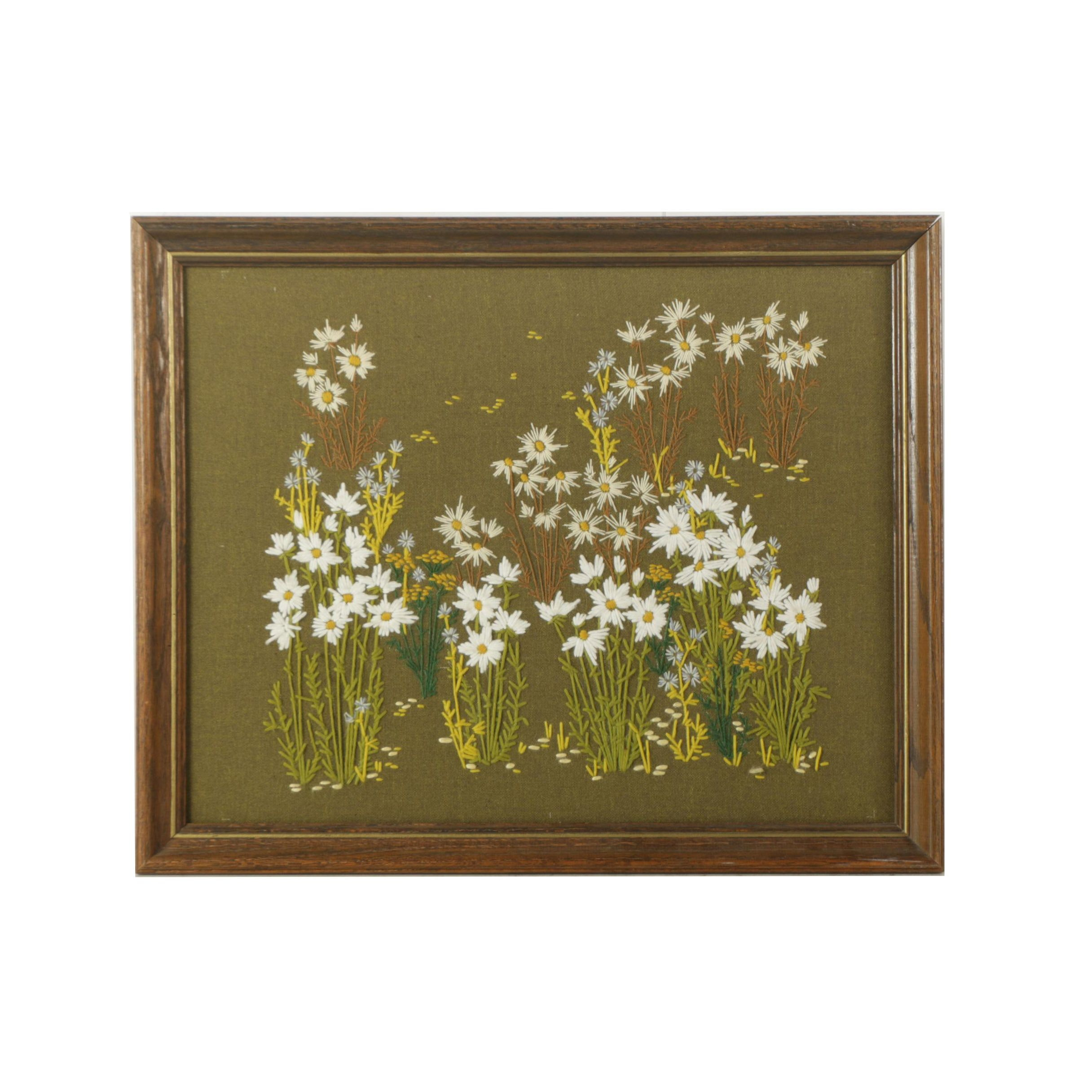 Freehand Embroidery of Wildflowers
