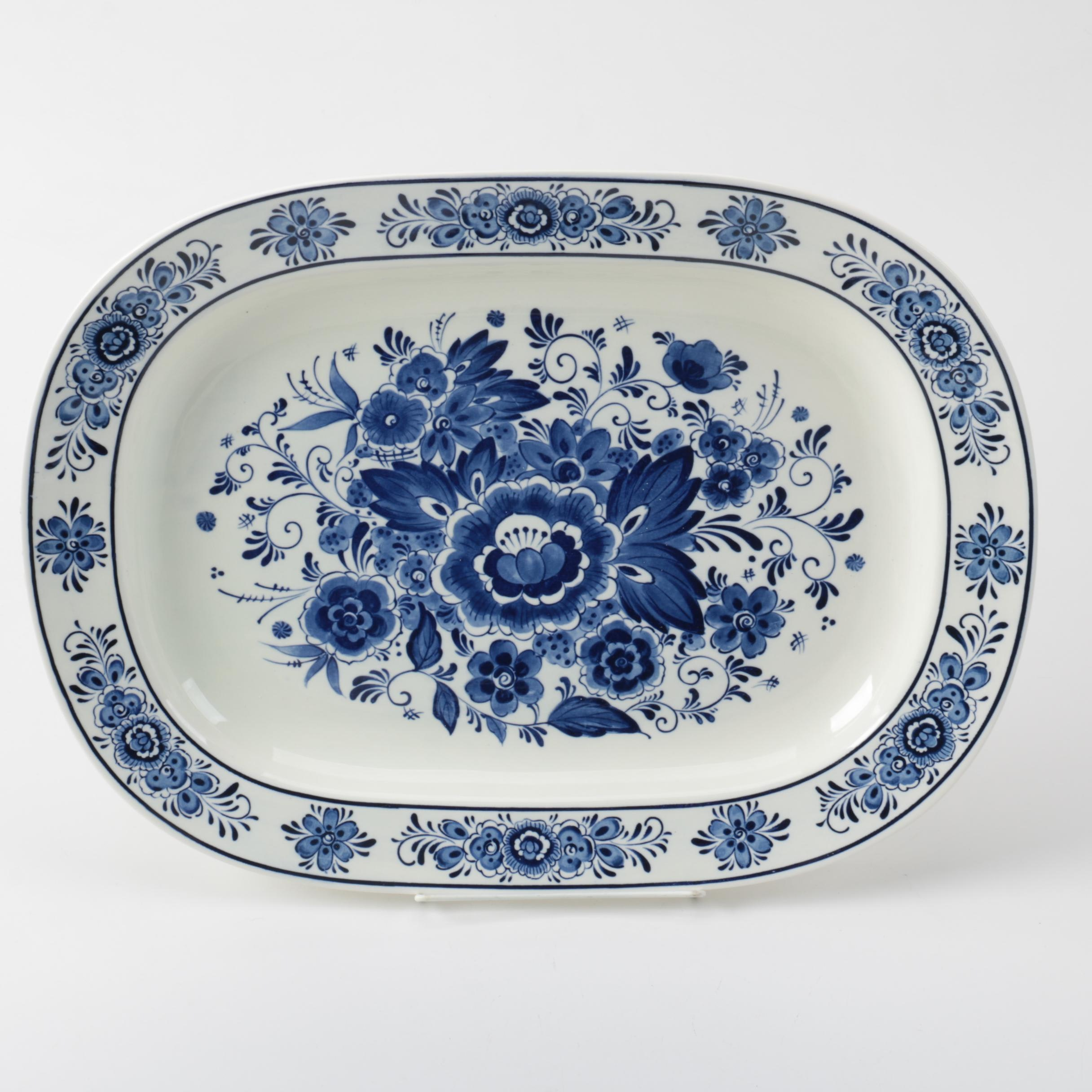 Delft Style Ceramic Serving Tray