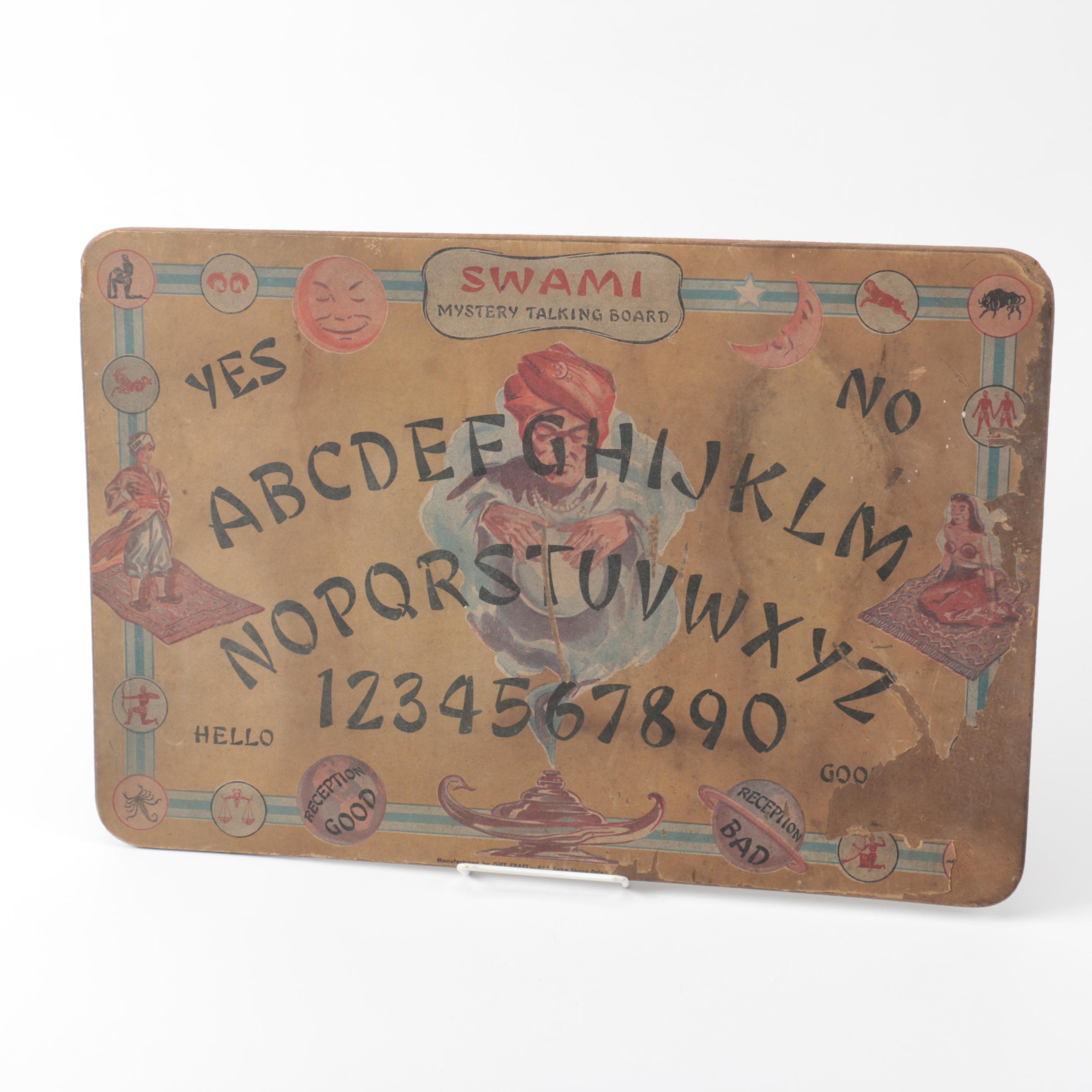 Vintage Swami Mystery Talking Board