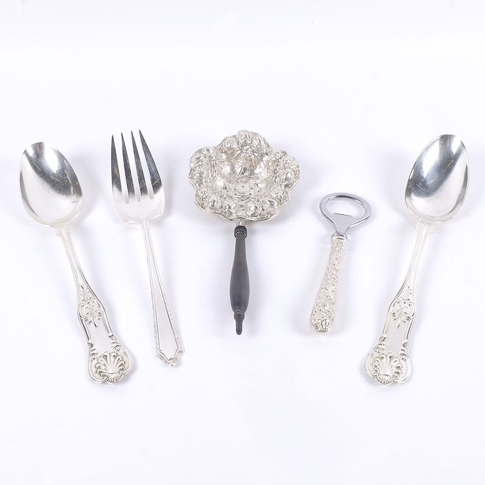 Sterling Silver Flatware and Utensils Including Kirk & Son