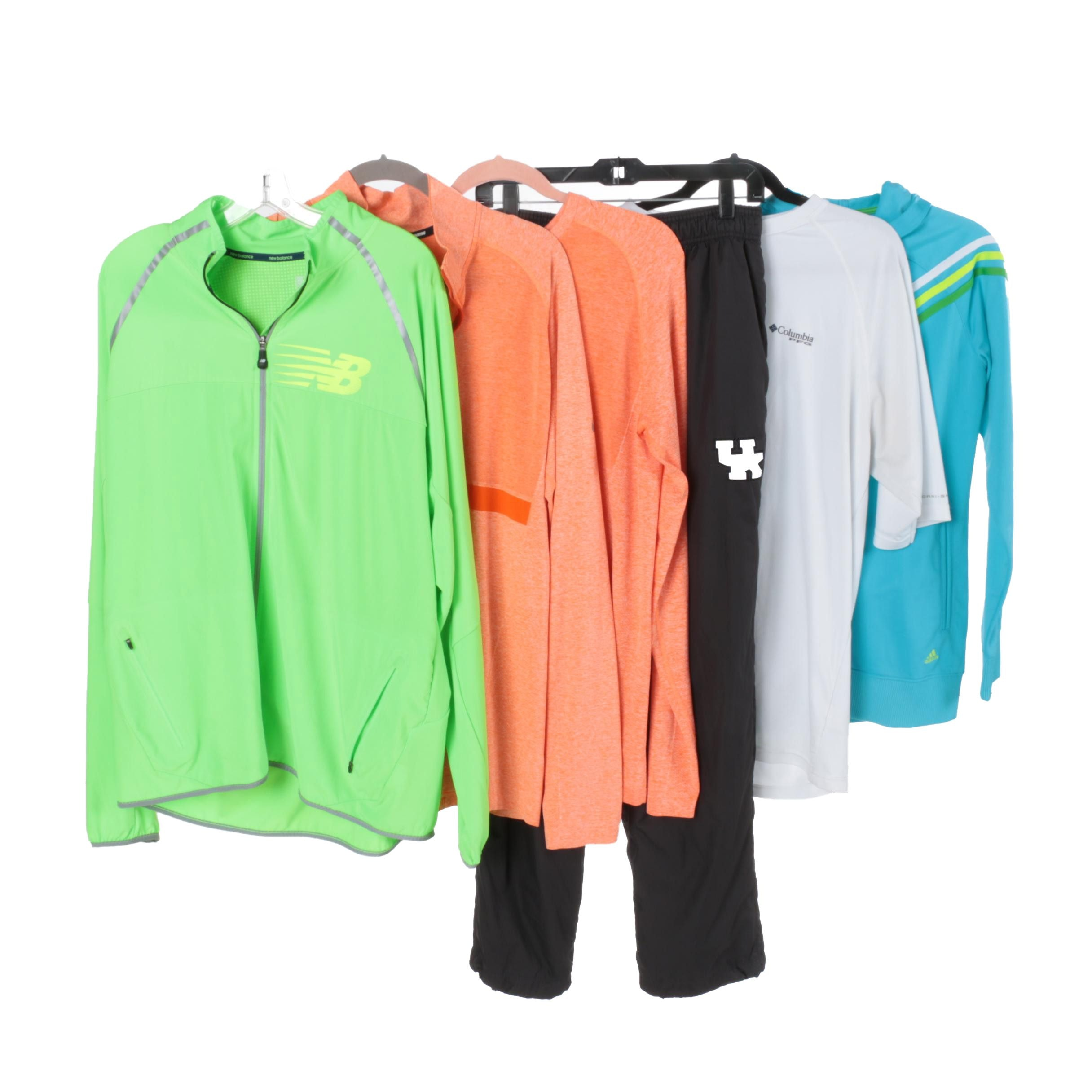 Activewear Including New Balance, Columbia, Nike and Adidas