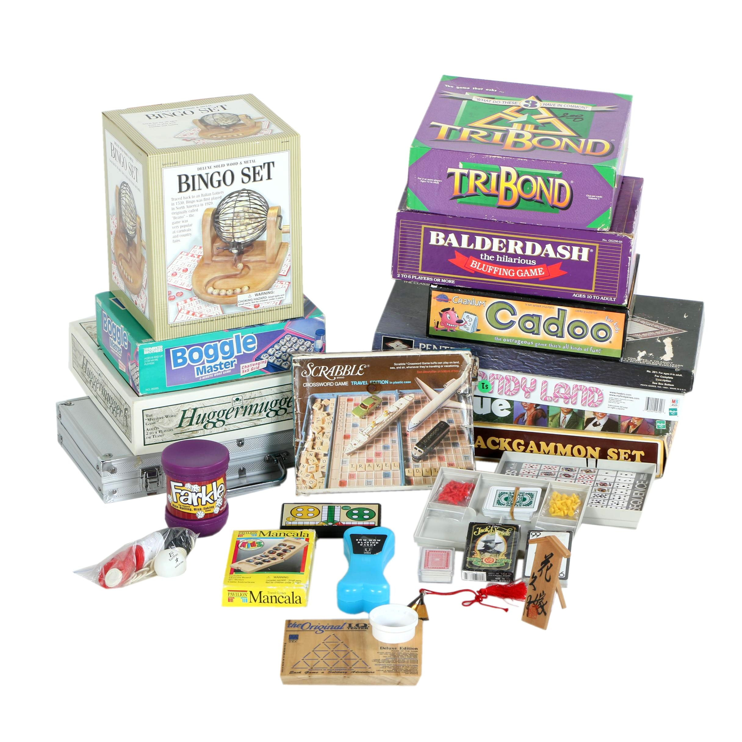 Board Games Including Boggle, Candy Land, Clue, and Others