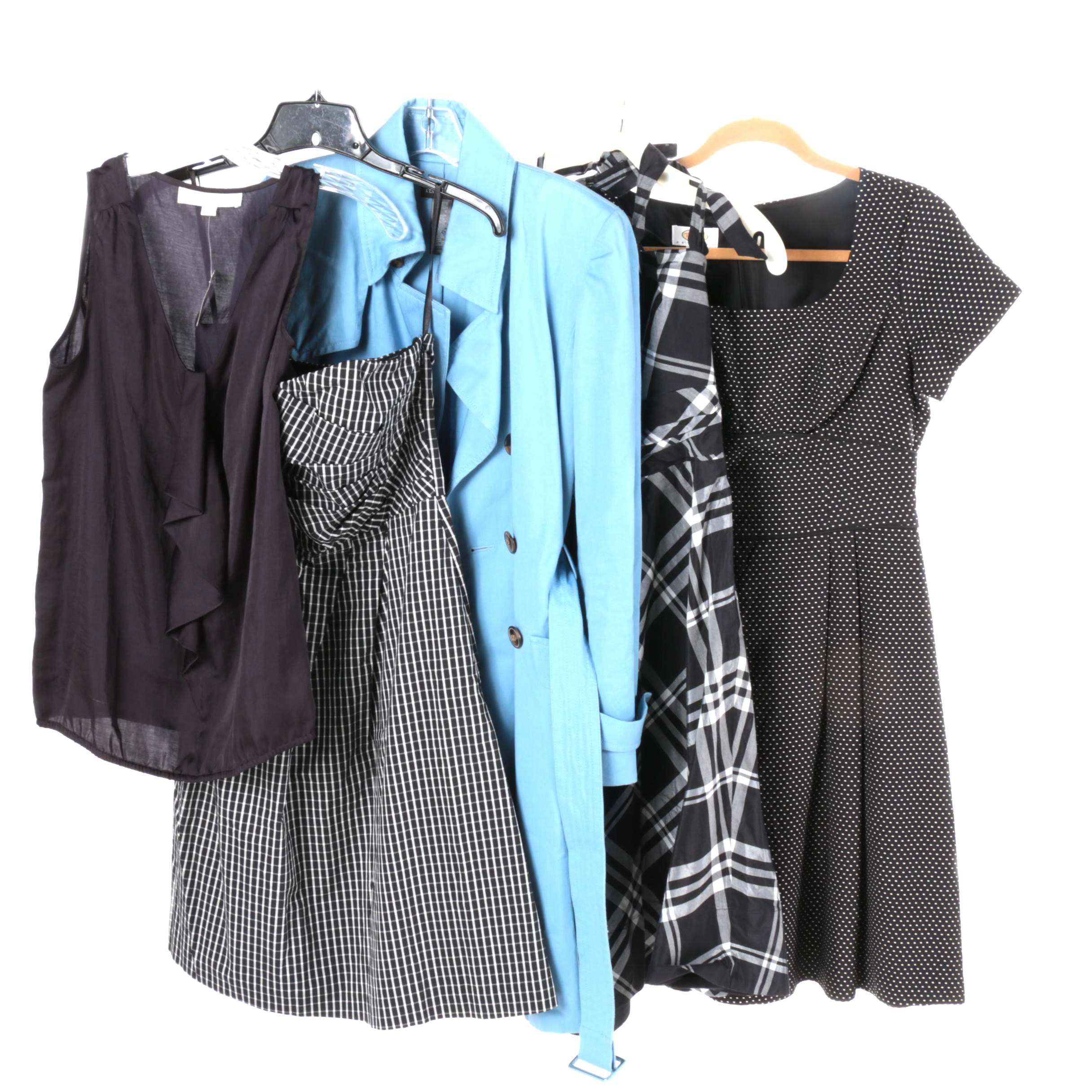 Women's Dresses, Coat and Blouse Including Ann Taylor Loft and Kenneth Cole