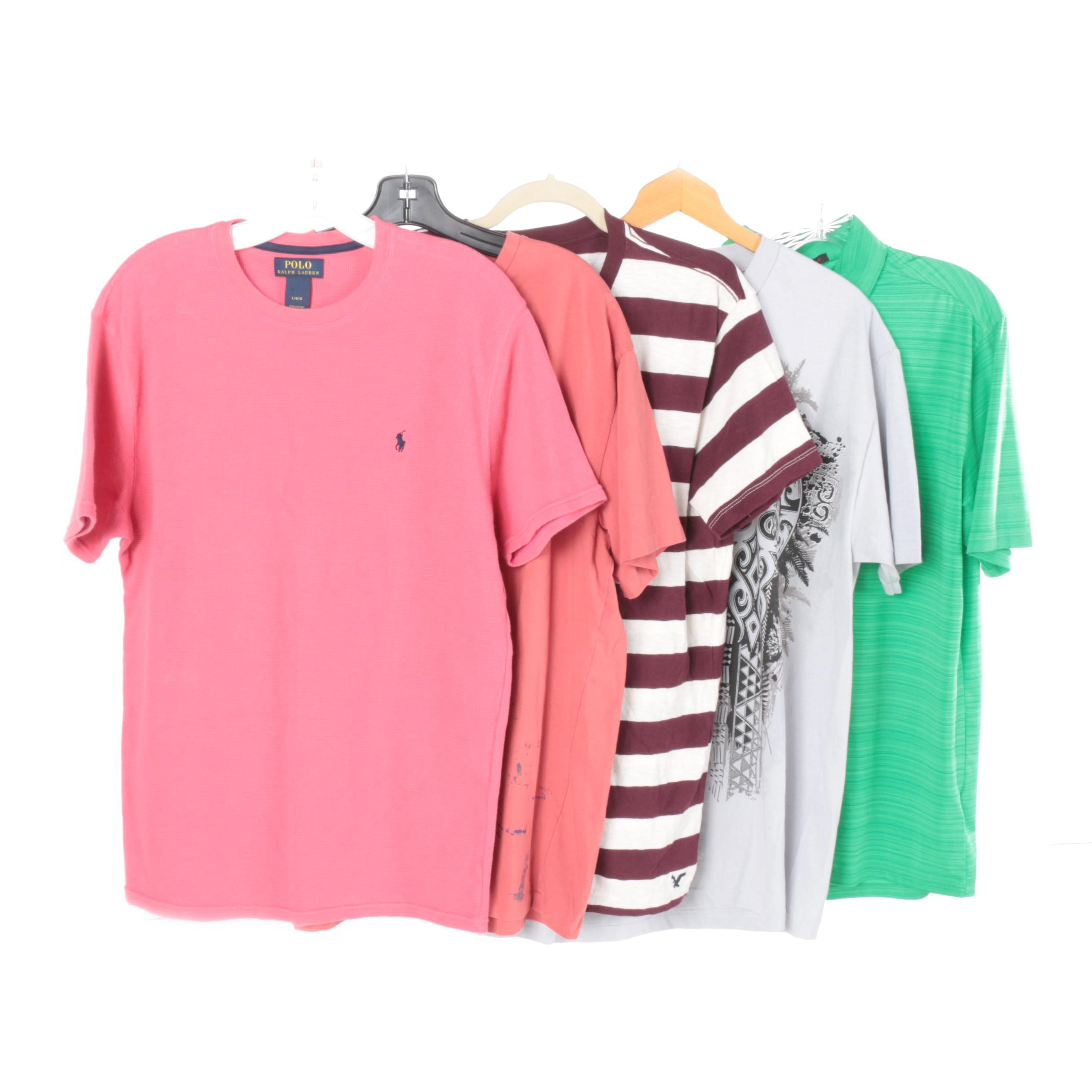Men's Short-Sleeve T-Shirts and a Polo Including Nike and Polo by Ralph Lauren