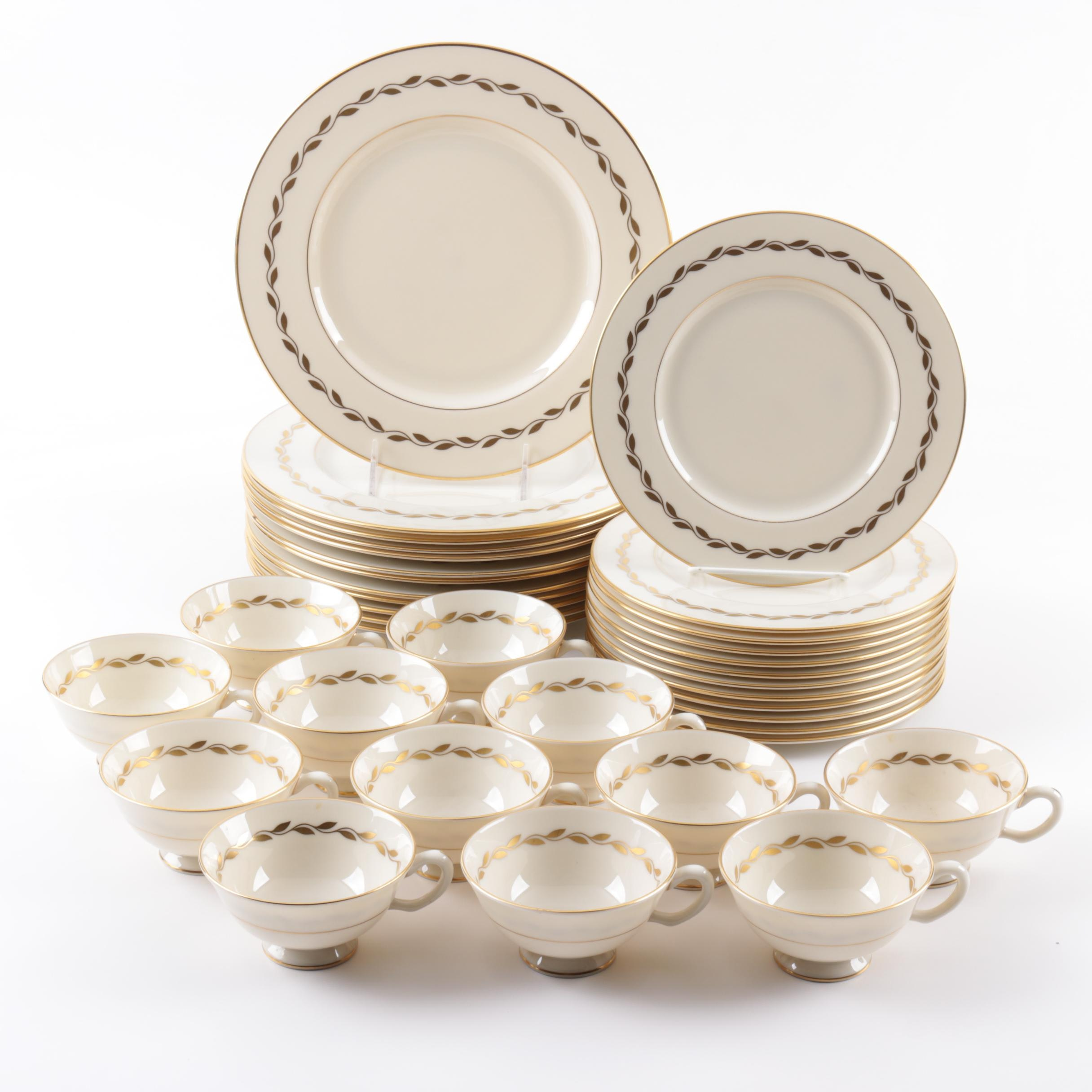 "Lenox ""Golden Wreath"" Tableware"