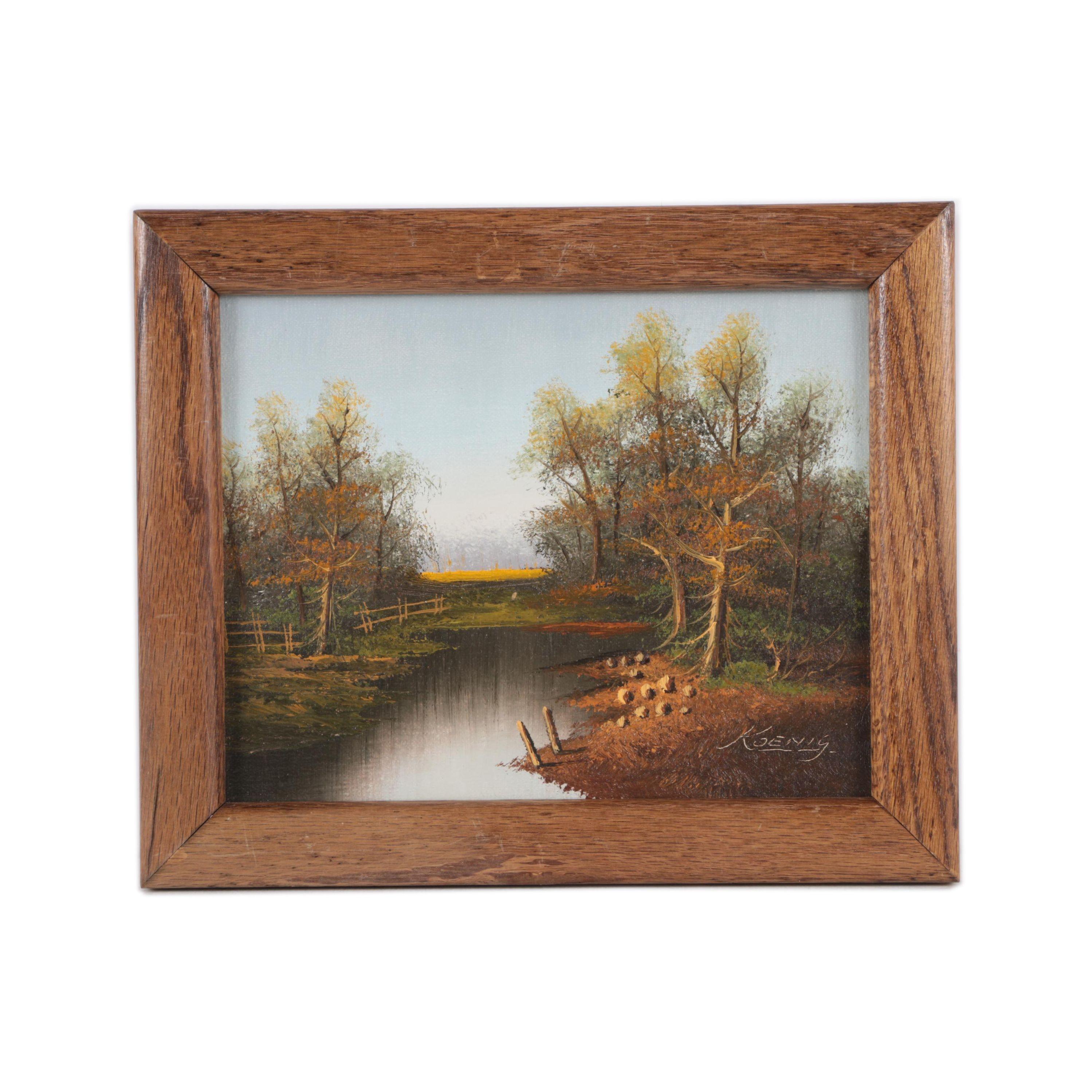 Koenig Oil Painting on Canvas Landscape