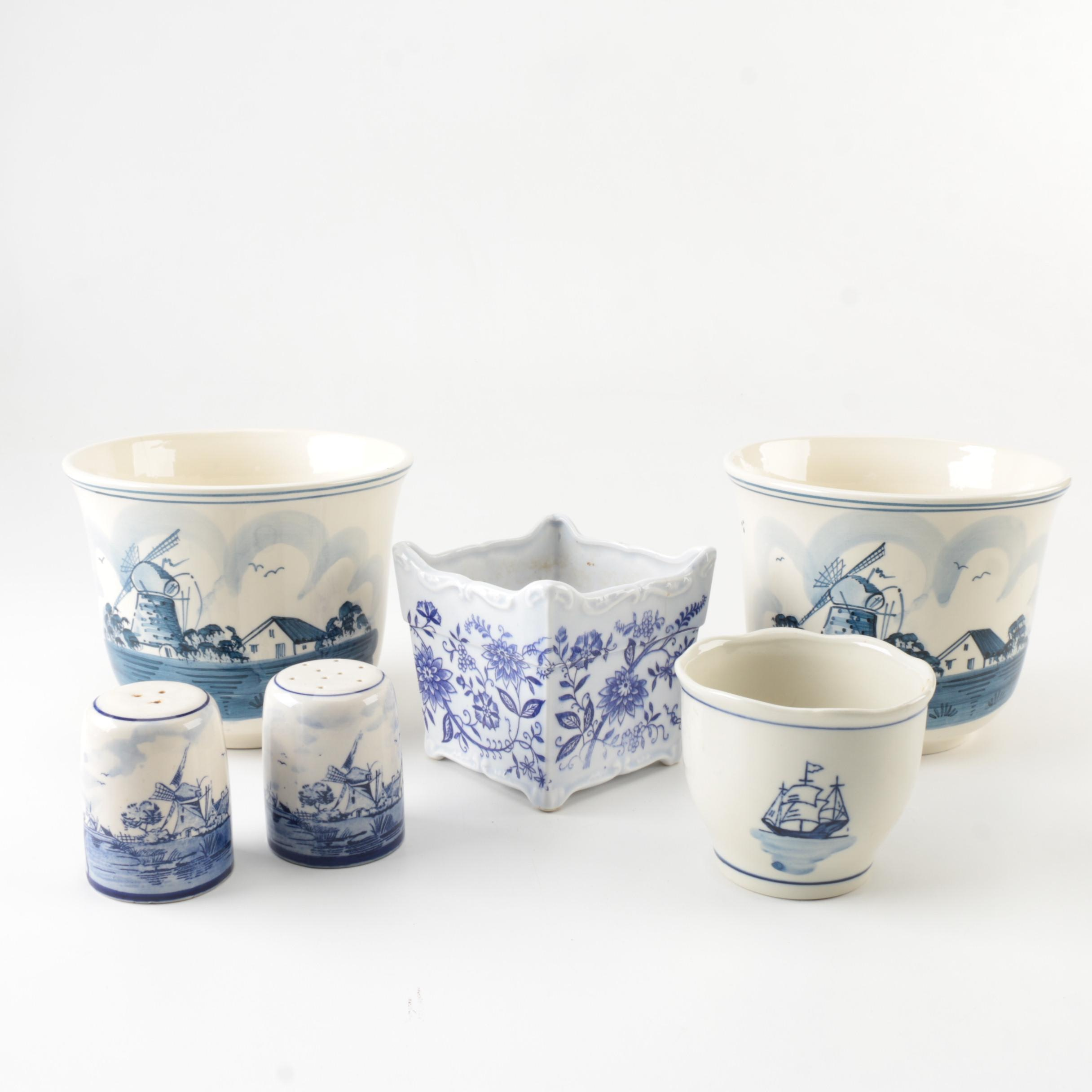 Blue and White Ceramic Collection