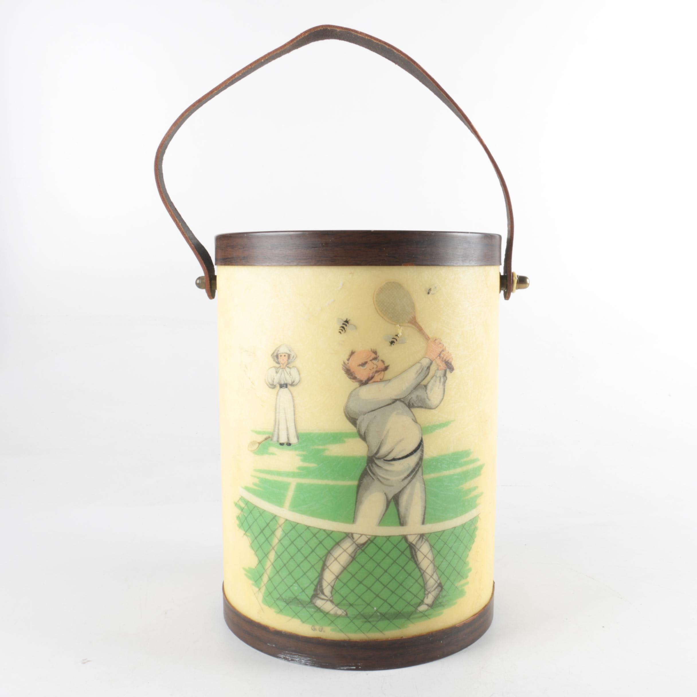 Bacova Hand Made Ice Bucket with Tennis and Bee Motif