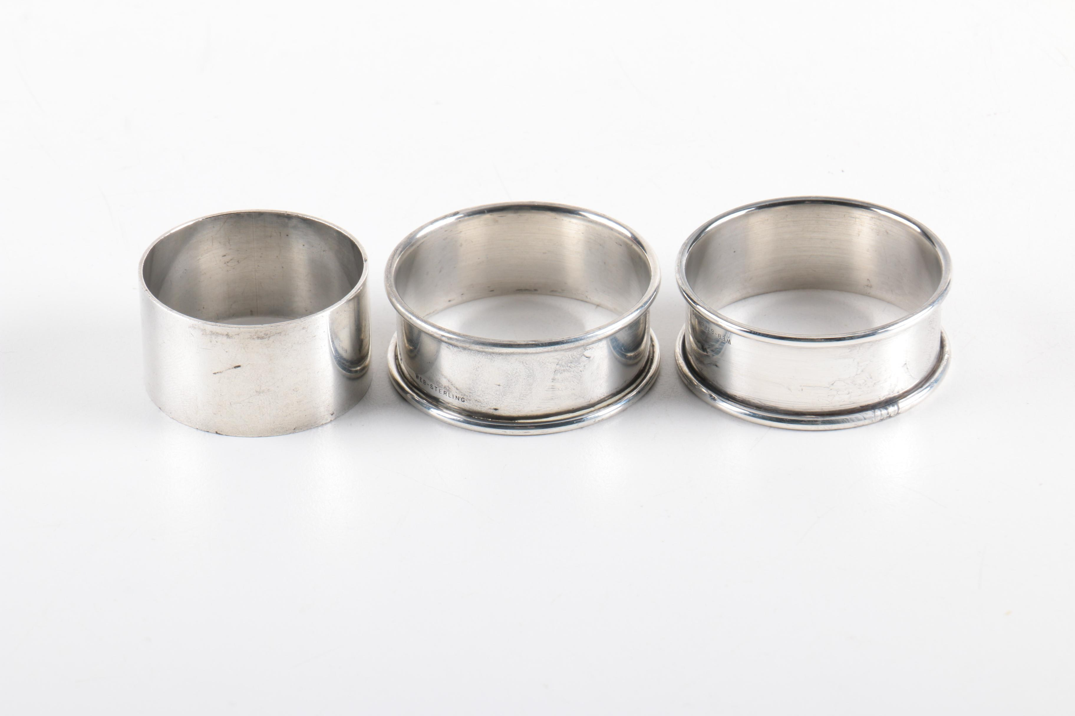 1955 Kirk Stieff and Web Sterling Silver Napkin Rings